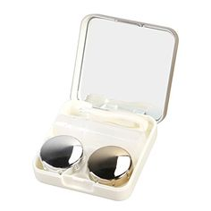ROSENICE Contact Lens Case Mini Travel Simple Contact Case Container Holder(Luxury Gold) Color: Luxury Gold.Material: Plastic. Size: About 6 * 6 * 2 cm/ 2.36 * 2.36 * 0.79 inch(L*W*H). Convenient to carry and lay aside the contact lens. Keeps your contact lenses safe when not being worn. Suitable for home or travel use.