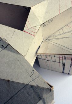 Image 13 of 22 from gallery of House on the Slope / Paisajes Emergentes. Paper Architecture, Architecture Drawings, Gothic Architecture, Maquette Architecture, Amazing Architecture, Small Buildings, Beautiful Buildings, Map Sketch, Arch Model