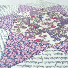 Smitten EPP quilt flower in Liberty of London ..... Sew Sweet Violet