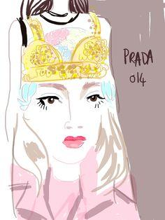 Prada - Miuccia de Castelbajac - #fashion_illustration