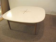 """Unique White Retro Square 35"""" Atomic Laminate Coffee Table Mid Century Modern #Unknown"""