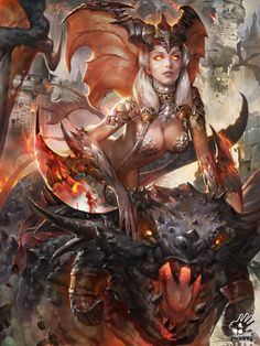 ArtStation - Come like a nightmare-Dragon Girl, puppet wj