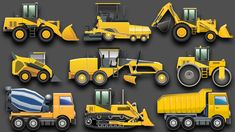 Learning Construction Vehicles for Kids - Construction Equipment Bulldozers Dump Trucks Excavators - Learning Construction Vehicles for Kids – Construction Equipment Bulldozers Dump Trucks Excavator - Dump Trucks, Toy Trucks, Monster Trucks, Rat Rods, Heavy Equipment Rental, Construction For Kids, Wheels On The Bus, Heavy Machinery, Healthy Food Delivery