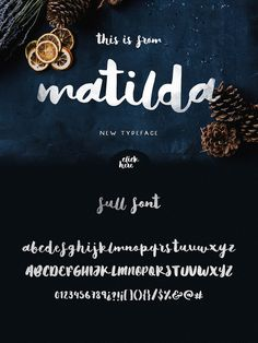 Matilda Font by Noe Araujo on Creative Market Script Typeface, Calligraphy Fonts, Typography Letters, Caligraphy, Alphabet, Cool Fonts, New Fonts, Matilda, Lettering Design