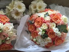 Vickys Flowers specialist wedding and event florist, first established Now freelance based in West Lothian Wedding Bouquets, Wedding Flowers, Flower Service, Floral Wreath, Creativity, Coral, Peach, Wreaths, Rose