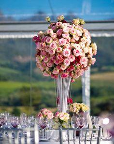 Pink roses centerpiece. Композиція з рожевих троянд.