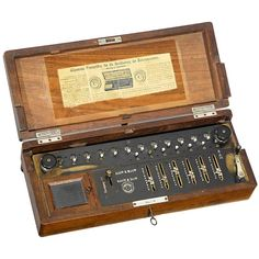 """Burkhardt Arithmometer"", 1878   Very first German Thomas-type calculating machine in very good original condition! Original wooden case. - One of the most important collector's items and exhibition pieces in German calculating machine history!"