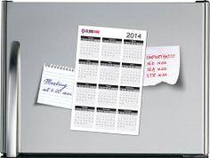 Magnetische kalender met bedrijfslogo