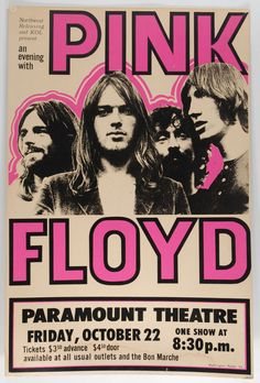 Music poster pink floyd 45 Ideas is part of Music concert posters - Vintage Concert Posters, Posters Vintage, Arte Pink Floyd, Art Hippie, Poster Sport, Pink Floyd Poster, Pink Floyd Concert, Poster Retro, Poster Design