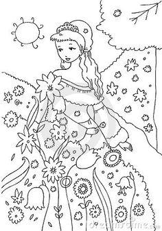 coloring book for grown ups Coloring Sheets, Adult Coloring, Coloring Books, Garden Coloring Pages, Line Illustration, Colorful Garden, Doodle Art, Growing Up, Art Nouveau
