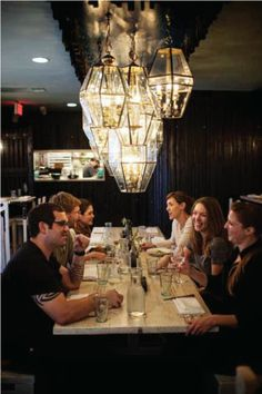 Lenoir - lovely Austin restaurant featuring a farm to table menu - can't get the lighting installation out of my head by Chris McCray