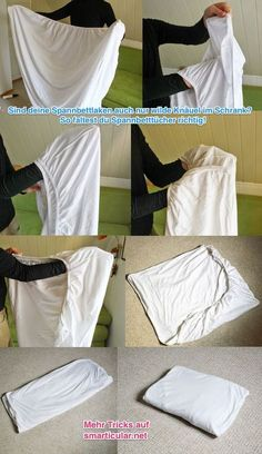 Spannbettlaken richtig falten [Video] Are your fitted sheets even just wild balls in the closet? How to fold fitted sheets correctly! Crafts For Teens To Make, Diy And Crafts, Easy Crafts, House Cleaning Tips, Cleaning Hacks, Organizar Closets, Vêtement Harris Tweed, Folding Fitted Sheets, Dollar Store Crafts