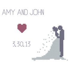 Counted Cross Stitch Pattern Wedding by oneofakindbabydesign, $6.95