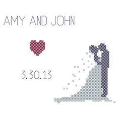 Counted Cross Stitch Pattern Wedding by oneofakindbabydesign, $6.95