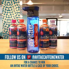 Follow us on Pinterest and you could win this limited edition Avitae Water Bottle and a case of Avitae! The winner will be announced on Thursday, April 30th.