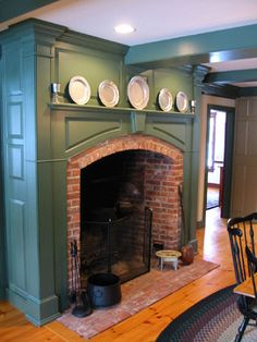 Most up-to-date Absolutely Free colonial Fireplace Mantels Popular Fire places are certainly one of my top picks parts of your home. They generate an incredible center of attent. Primitive Fireplace, Farmhouse Fireplace, Primitive Homes, Fireplace Hearth, Fireplaces, Country Fireplace, Cottage Fireplace, Cabana, Cosy Home