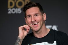 FIFA Ballon d'Or nominee Lionel Messi of Argentina and FC Barcelona attends a press conference prior to the FIFA Ballon d'Or Gala 2015 at the Kongresshaus on January 11, 2016 in Zurich, Switzerland.