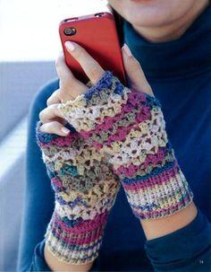 Maggie's Crochet · Texting Mitts #crochet #pattern #glove #mat #warm #hands #texting #phone