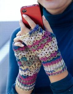 Maggie's Crochet - fingerless gloves.
