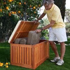 Hyde Park 4-ft. Wood Outdoor Storage Deck Box Image 4