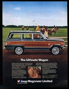 1982 Jeep Wagoneer Limited polo patch photo vintage print ad