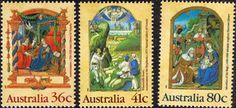 Australia 1989 Christmas Set Fine Mint SG SG 1225/7 Scott 1159/61  Other Australian Stamps HERE
