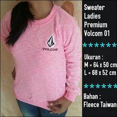 Sweater Ladies Premium Volcom 01 Pink || Menyerupai Original, lambang Bordir, Bahan halus dan berbulu seperti ori, Resleting sesuai merk, dan nyaman dipakai || Ukuran M dan L || Minat?? Telp/WA: 085842323238 || BBM: 5B0B3B3D