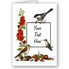 A customizable card you can use for almost any occasion; Created with my artwork and available on Zazzle.