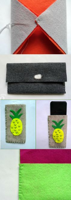 Personally I can never have enough pouches to keep bits and pieces in - and why buy when you can DIY? Felt Pouch, Pouches, Diy Projects, Pretty, Fun, How To Make, Stuff To Buy, Bags, Inspiration