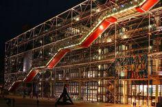 Centre Pompidou - Paris, France. Pompidou at night