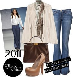 """""""2011 Fashion Trend Prediction: Bell Bottoms"""" by polyvore ❤ liked on Polyvore"""