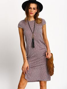 Pocket Tee Dress PURPLE