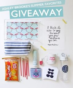 Alright friends, my Summer Favorites Giveaway is live!!! Hop on over to the blog for all the entering details! P.S. make sure you re-pin this for extra entries!!! I'll be keeping my fingers crossed for you! HAPPY SUMMER! xx-AB #iloveabd #abdfavethingsgiveaway