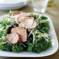 Mustard Greens Salad With Pork and Asian Pear - 20 Skinny Main-Dish Salads - Health Mobile