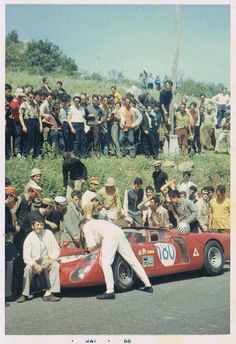 Alfa Romeo 33/2 in the Targa Florio. It is a Pininfarina designed concept car, first presented at the Paris Motor Show in 1969. Leonardo Fioravanti designed this 2-door coupe. The design was influenced by the Ferrari P5 concept shown a year earlier at Geneva.
