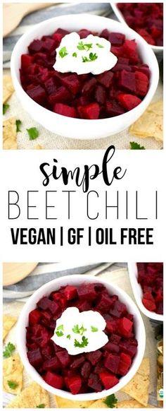 Simple Beet Chili (Vegan, Gluten-Free, Oil-Free)