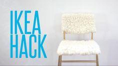 DIY Ikea Hack // Tejn Sheepskin & Stig Bar Stool