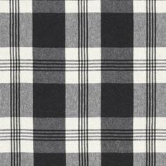 Ralph Lauren MILL POND CHECK BLACK/CREAM Fabric