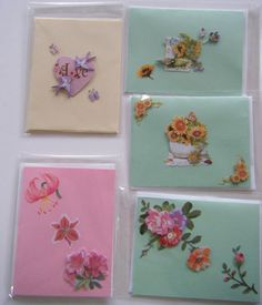 A 5 Pack of an Assortment  all occasion cards. by CraftsbyNAC, $12.00