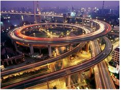 nanpu bridge, shanghai - This would be a horrible traffic jam if there is a wreck  ;(