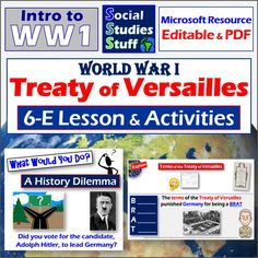Social Studies Resources, Teacher Resources, Teacher Pay Teachers, Teaching Materials, Teaching Ideas, Treaty Of Versailles, Middle School Grades, American History Lessons, Map Skills
