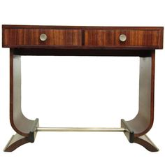 French Art Deco Console Table in Rosewood, circa 1920 | From a unique collection of antique and modern console tables at https://www.1stdibs.com/furniture/tables/console-tables/