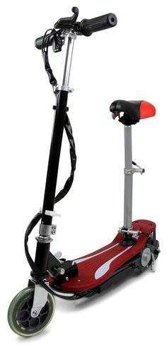 Elscooter med sadel - Röd
