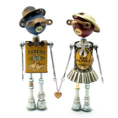 """""""Schnozzie and Harriet"""" (Fobots by Amy Flynn Designs)"""