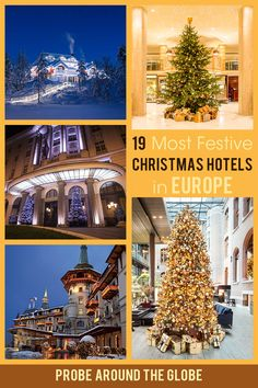 Spice up your Christmas game and book a stay at one of these 19 most festive hotels during Christmas. Enjoy the magical ambience of Santa's village in the lobby, Christmas Dinner and a Christmas Tree in your own room! Check out these amazing hotels in Europe that amp up their Christmas game for you! #christmasineurope #christmashotels #wheretostayforchristmas