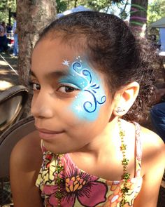 Chicago Face Painting and Photography - Chicago Face Painter Valery Lanotte - Eye Design
