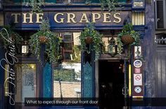 The Grapes - Overlooking the Thames, in a peaceful neighbourhood not that far from the bustle of Canary Wharf, The Grapes is one of the oldest pubs in London. Charles Dickens was a patron, and even made reference to the pub in his novel 'Our Mutual Friend'. Leaseholder Ian McKellen has written a brief history, here, should you wish to find out more.