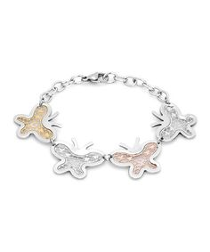 Take a look at this Tricolor Butterfly Cutout Bracelet by HMY Jewelry on #zulily today!