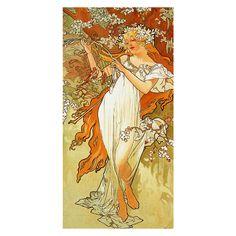 35*70cm Bath Towels!Alphonse Mucha Painting Printed Beach Towel /Soft Bamboo Fiber Drying Washcloth For Kids Men Women