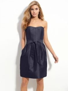 Sexy A-line Sweetheart Belt Sleeveless Short/Mini Taffeta Bridesmaid Dress $180.8 Graduation Dresses